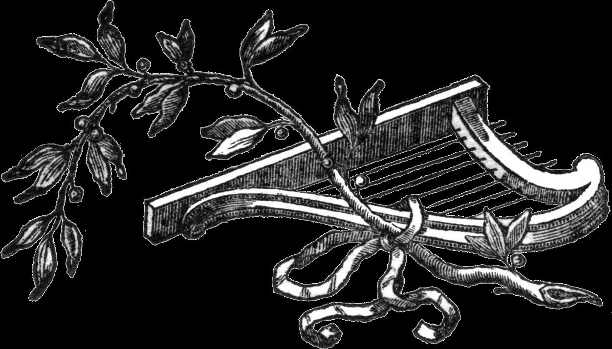 Cítara y rama de olivo